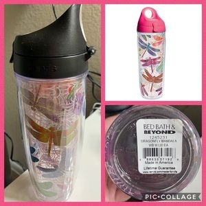 Tervis Dragonfly Wrap 24oz Water Bottle NWT